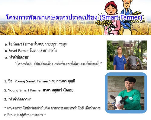 ถอดบทเรียนเกษตรกรต้นแบบดีเด่น Smart FarmerModel และ Young Smart FarmerModel